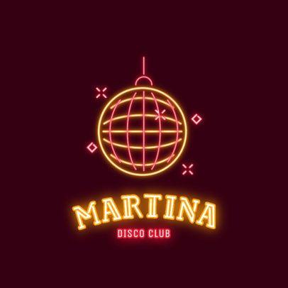 Nightclub Logo Maker with a Retro Disco Ball 2415b