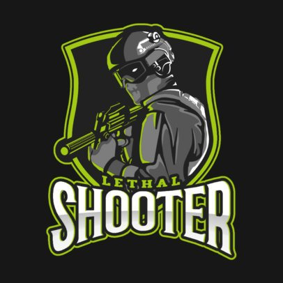 Shooting Gaming Team Logo Maker Inspired by Counter-Strike 2449s