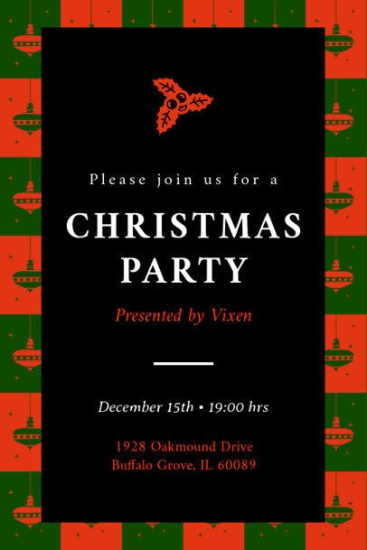 Christmas Party Invitation Maker with a Mistletoe Illustration 1684e