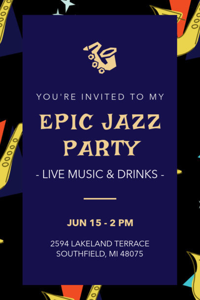 Invitation Template for an Epic Jazz Party Celebration