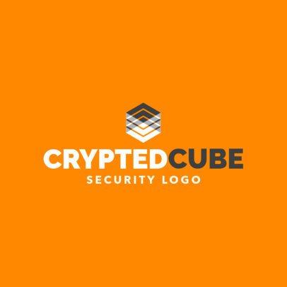 Logo Template for a Digital Security Featuring a Deconstructed Cube Illustration 1790g 2417