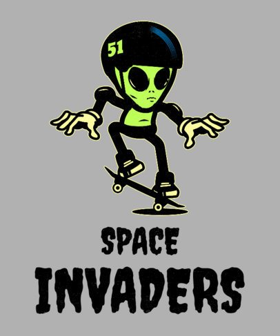 T-Shirt Design Maker with an Alien Graphic 1716