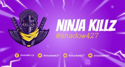 Twitch Banner Maker with Fortnite-Style Characters 1735 - 1728