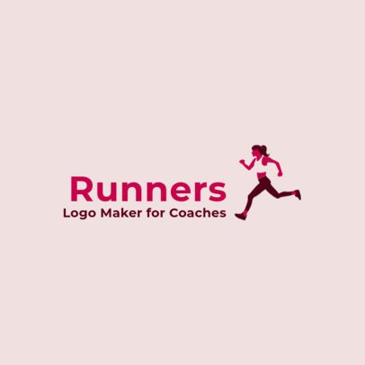 Logo Design Template for a Runner Coach 2456f