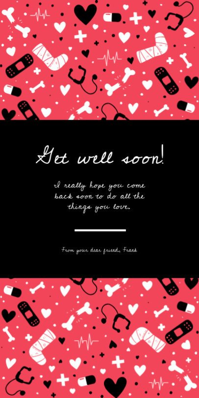 Greeting Card Maker with a Get Well Soon Message 1586a