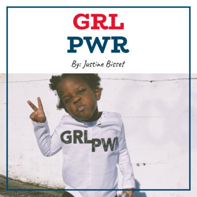 Podcast Cover Template for Girl Power Shows 1723e