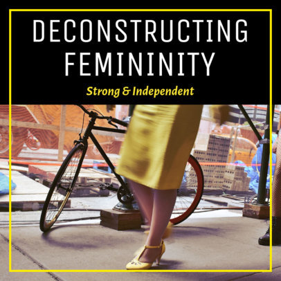 Podcast Cover Creator with a Feminist Theme 1723h