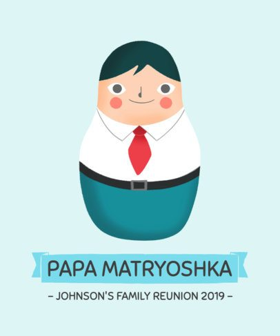 Cartoon-Style T-Shirt Design Maker for a Family Reunion 1715d