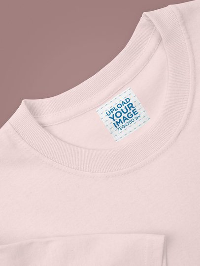 Clothing Label Mockup of a Crew Neck T-Shirt 28971