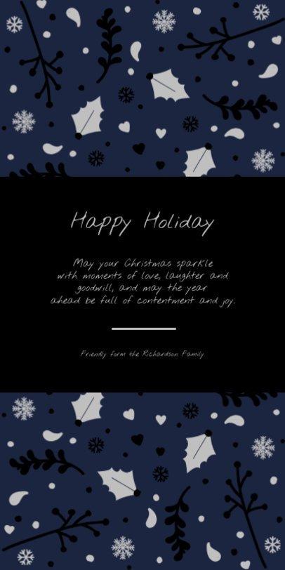 Greeting Card template with a Christmas Season Design 1586e