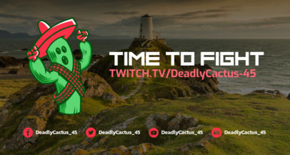Twitch Banner Creator in the Style of Fortnite 1735d--1727