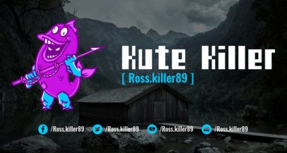 Twitch Banner Maker in the Style of Fortnite Featuring Original Characters 1735f--1727