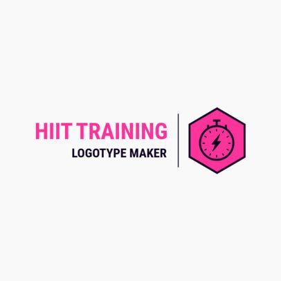 Fitness Logo Generator for Physical Trainers 2458b