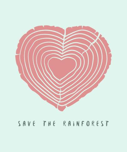 Save the Amazonia T-Shirt Design Maker 1562j--1740