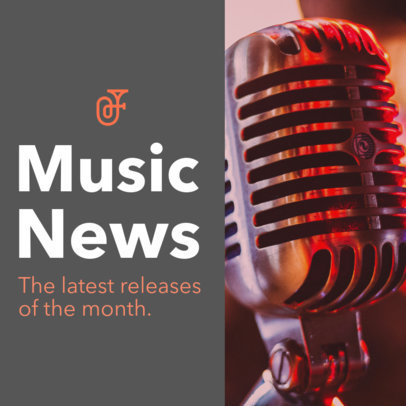 Podcast Cover Template for a Monthly Music Podcast 1718a