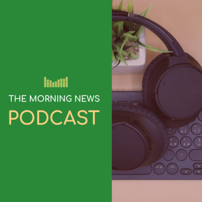 Podcast Cover Generator for a News Podcast 1718g