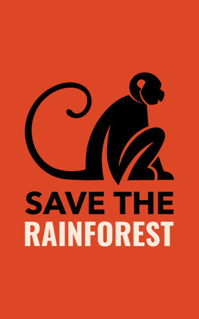 Save the Amazon Rainforest T-Shirt Design Maker 1152n-1743