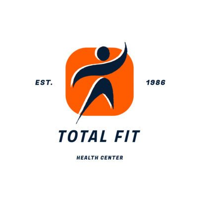 Health Center Logo Maker Featuring a Moving Abstract Person Graphic 2457e