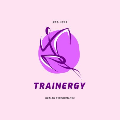 Fitness Logo Template Featuring a Running Person Illustration 2457f