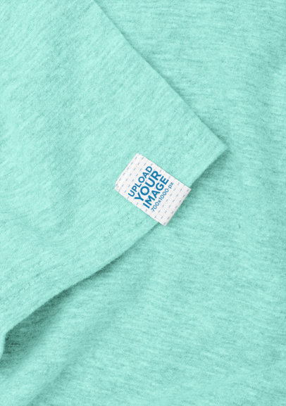 Mockup of a Clothing Label Attached to a Shirt's Sleeve 29026