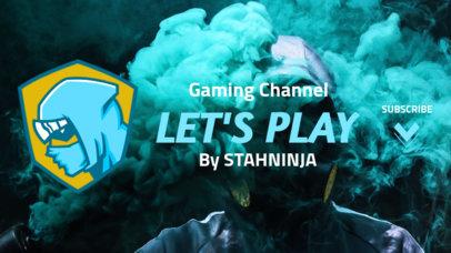 Fortnite-Inspired YouTube Banner Maker Featuring a Ninja 1735g