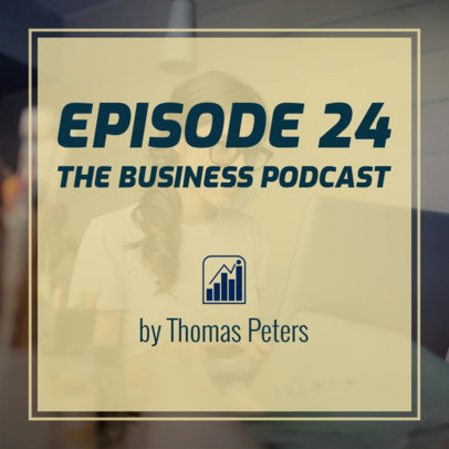Podcast Cover Creator for Business People 1722i