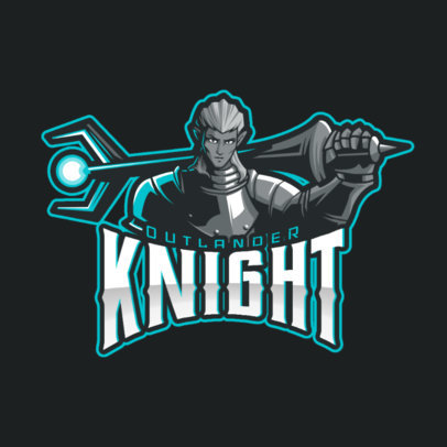 Mobile Legends-Inspired Gaming Logo Maker with a Knight Illustration 2455q