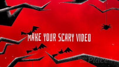 YouTube Video Maker for a Halloween Party Ad 1871