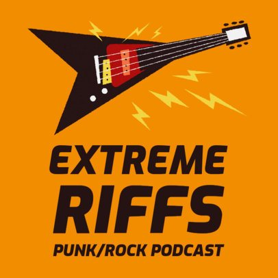 Podcast Cover Template for Punk Rock Listeners 1724f
