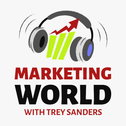 Podcast Cover Template for a Marketing-Oriented Audience 1724h