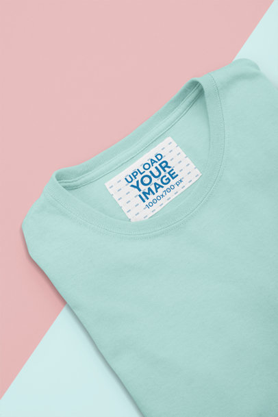 Mockup of an Inside Clothing Label on a T-Shirt 28989