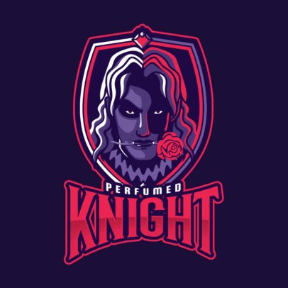 Mobile Legends-Themed Gaming Logo Maker with a Vampire Illustration 2455s