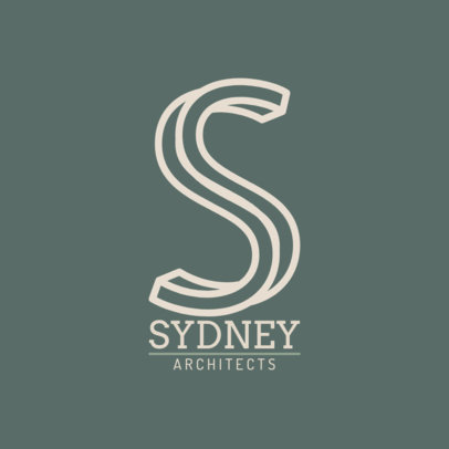 Logo Template for an Architect Firm Featuring a Tridimensional S Letter Graphic 1282f 2472