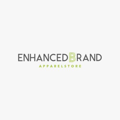 Apparel Brand Logo Template Featuring a Letter Graphic 1290i 2472