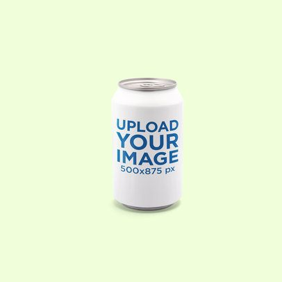 Minimal Soda Can Mockup Featuring a Plain Background 661-el