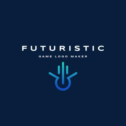 Futuristic Gaming Logo Generator 2478a