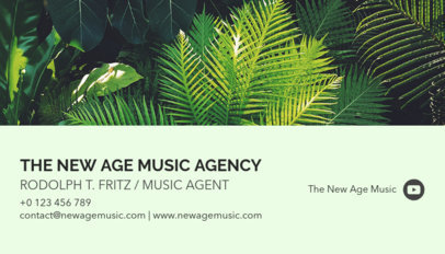 Business Card Maker for a Music Agent 118e