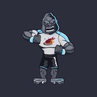 Animal Mascot Template for a Basketball Team 2381e