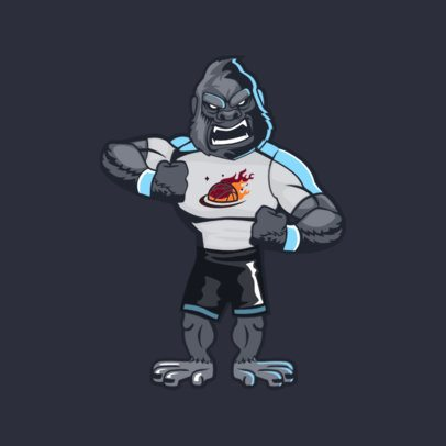 Animal Mascot Template for a Basketball Team 2381e