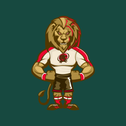 Mascot Template with an Angry Lion 2381g