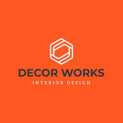 Abstract Logo Maker for an Interior Decorator 1209l-2476