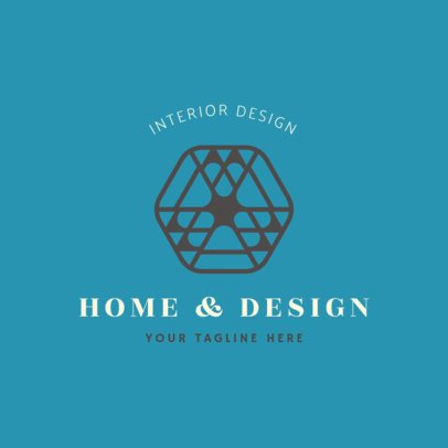 Home Designer Logo Creator with a Hexagonal Icon 1325i-2476