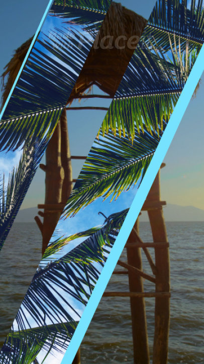 Summer-Themed Instagram Story Video Maker Featuring Modern Transitions 1293A 342