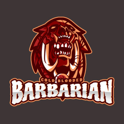 Gaming Logo Generator Featuring a Barbarian Clipart Inspired by DOTA 2 2499j