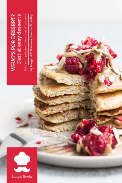 Book Cover Maker for a Desserts Recipe Book 911e--1762