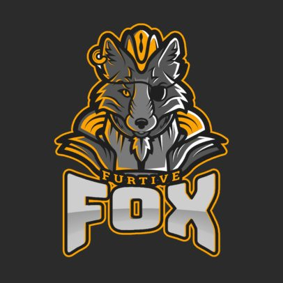 Gaming Logo Generator Featuring a DOTA 2 Inspired Fantasy Fox Graphic 2499y