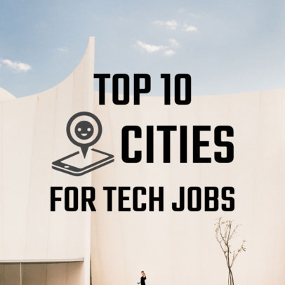 Instagram Post Maker Featuring a Ranking for Tech Cities 564p 1698