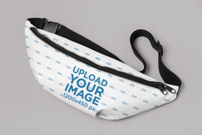 Fanny Pack Mockup Featuring a Plain Background 29202