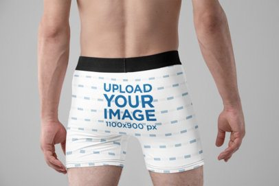Boxers Mockup of a Man in a Studio 29205