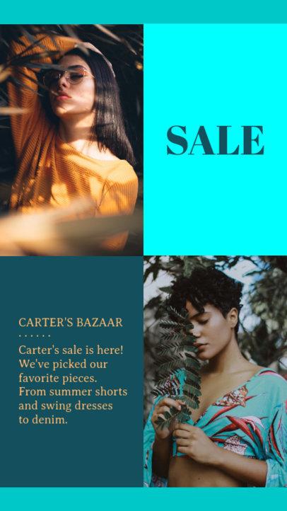Instagram Story Maker for a Bazaar Sale 967b--1762